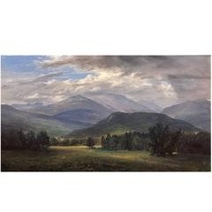 "Erik Koeppel NH White Mountain Landscape ""Mt. Washington Beneath the Clouds"""