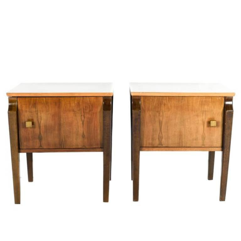 Mid century modern mahogany nightstands circa 1950 for sale at 1stdibs - Vancouver mid century modern furniture ...