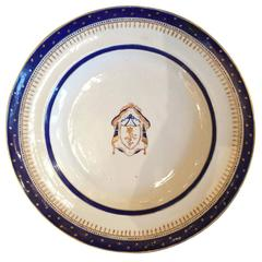 Federal Period Set of Chinese Export Armorial Dishes, circa 1796-1820