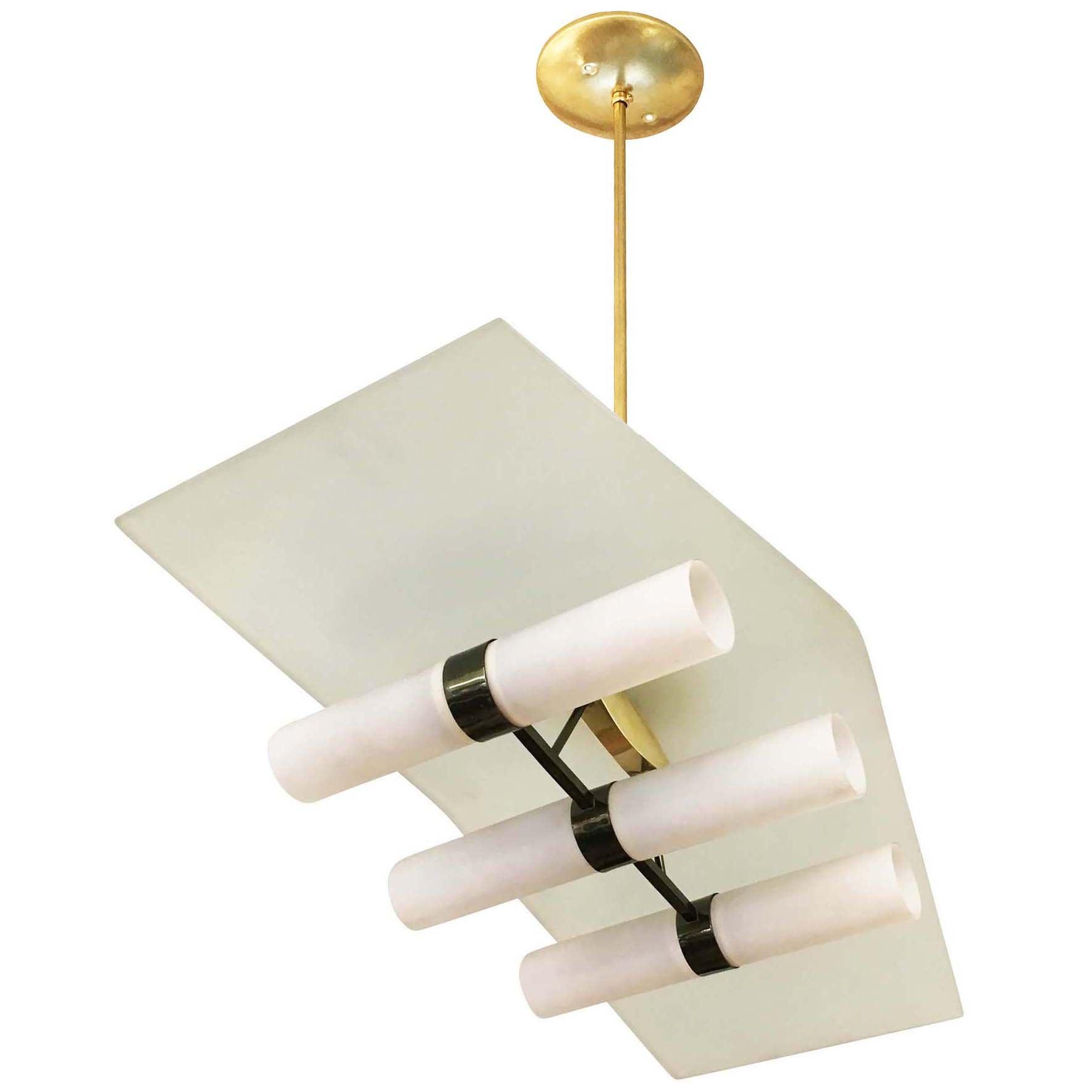 Six light stilnovo chandelier italy 1950s for sale at 1stdibs aloadofball Gallery