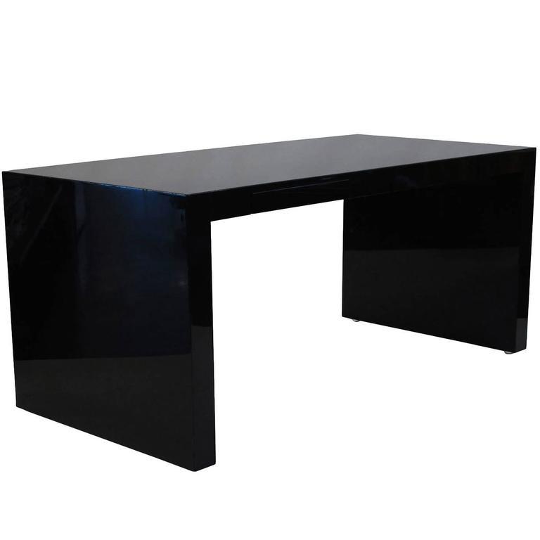 Paul Mayen Black Lacquer Desk For
