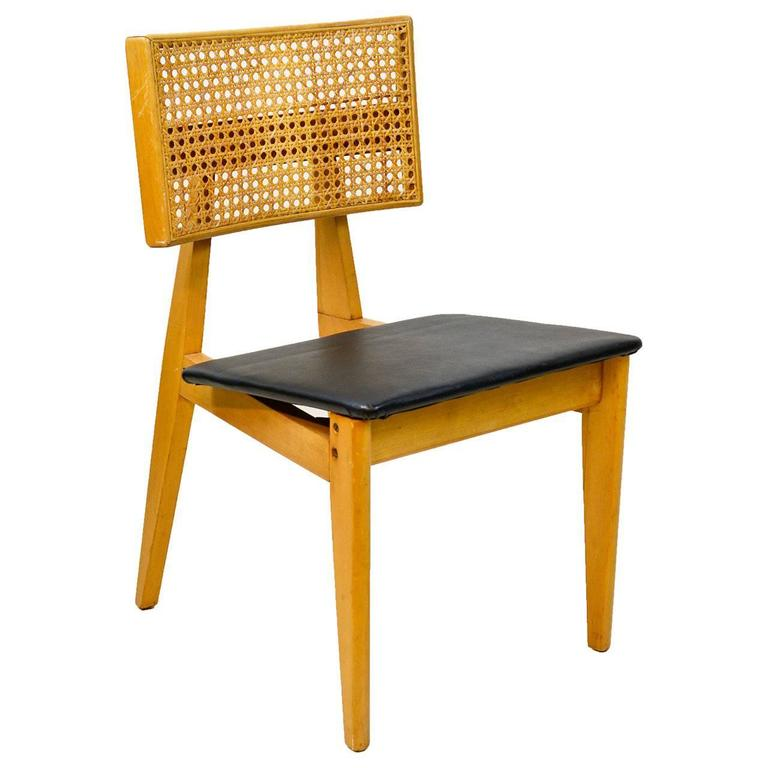 Awesome 1940s Cane Back Side Chair By George Nelson For Herman Miller 1