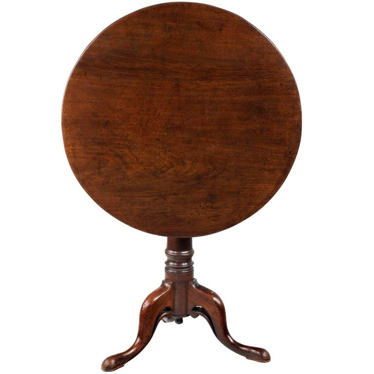 18th Century Mahogany Tripod Table