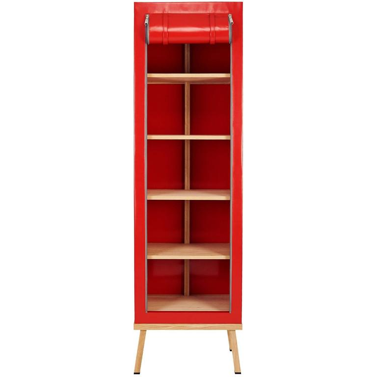 Visser and Meijwaard Truecolors Cabinet in Red PVC Cloth with Zipper Opening