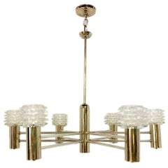Nickel-Plated Light Fixture with Glass Globes