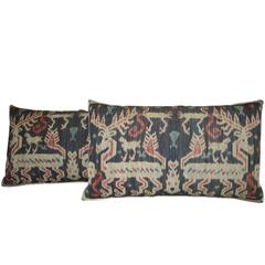 One Antique Ikat Tapestry Pillows, circa 1850 1671p