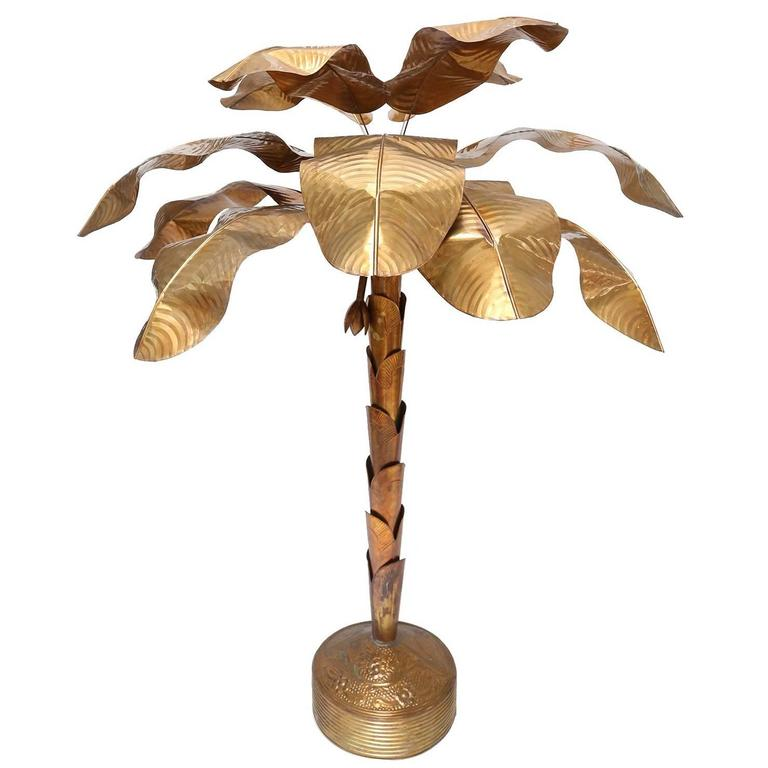 Banana Tree Flower Lamp At 1stdibs
