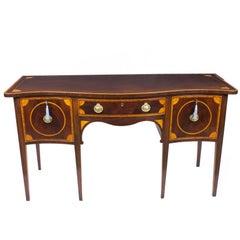 19th Century Sheraton Style Inlaid Mahogany Sideboard