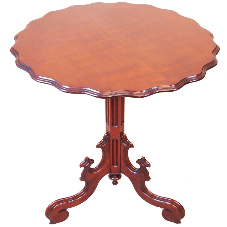 Antique 19th Century Mahogany Tripod Lamp Table