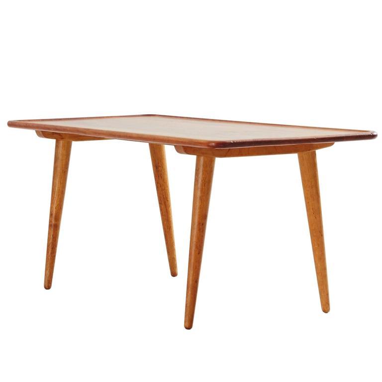 Hans J. Wegner Teak Coffee Table, Andreas Tuck, Denmark, 1950s