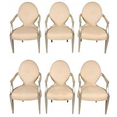 Set of Six Vintage Donghia Armchairs