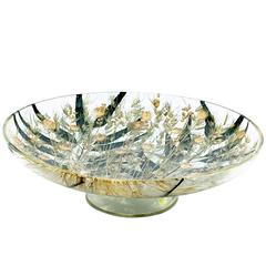 Decorative Plexiglass Bowl or Basket with Wheat Inclusions