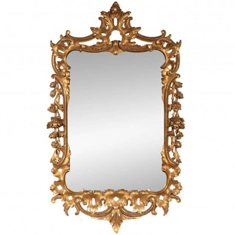 Vintage French Style Giltwood Wall Mirror