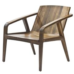 Pilot Lounge Chair in Solid Walnut by Scott Mason for Wooda