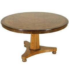 Italian Marquetry Center Table