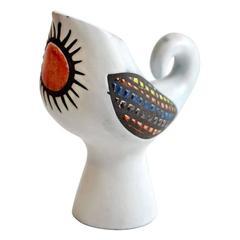 Roger Capron Ceramic Bird Vase