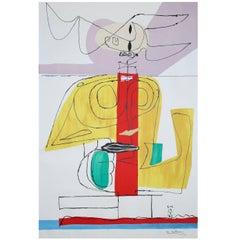 """Le Corbusier  Large Lithograph """"Taureau"""" 'Le Taureau' 1963"""