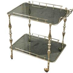 Italian Cocktail Cart in Silvered Metal