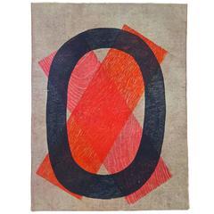 Graphic 1960s, Jackie Hetherington Woodcut Print, Chicago, USA