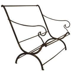 French 18th Century Collapsible Bench, Settee in Iron
