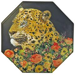 Leopard Painting by Ira Yeager
