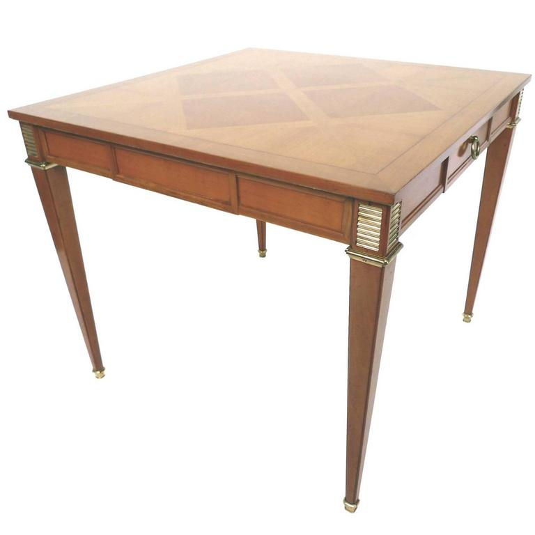 Mid 20th century blond mahogany game table by baker for Mid 20th century furniture