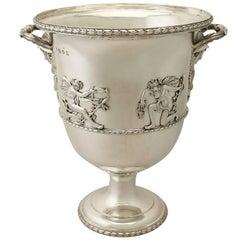 Antique Edwardian Sterling Silver Wine Cooler by Charles Stuart Harris