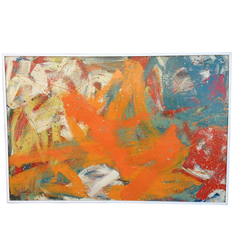 Quot Abstract In Colors Quot Large Painting By Rolph Scarlett For