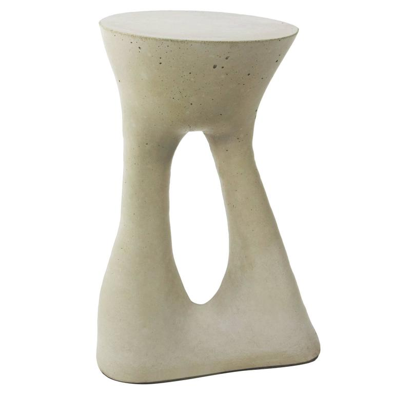 Tall Grey Kreten Side Table from Souda, Made to Order