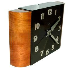 English 1930s Art Deco Wall Clock by Siemens