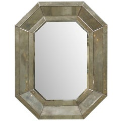 An Octagonal-Shaped Venetian Style Mirror with Beveled Surround
