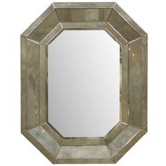 Octagonal Venetian Style Mirror with Beveled Surround