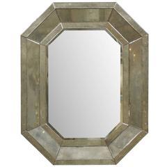 Octagonal Venetian Style Mirror with Beveled Surround