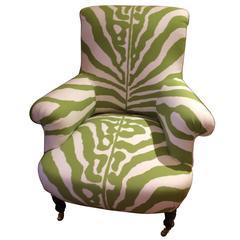 Vintage Club Chair in Scalamandre Faux Zebra
