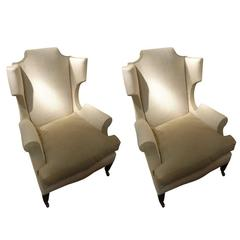 19th Century Pair of Wing Chairs, England