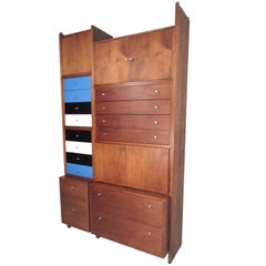 George Nelson Style Mid-Century Storage Cabinet