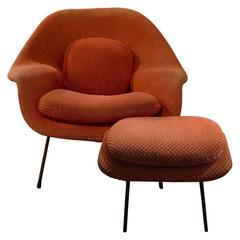 Eero Saarinen Vintage Womb Chair and Ottoman
