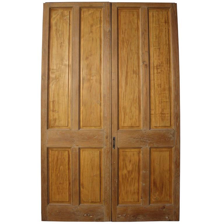Pair of Antique Oak Room Dividers or Double Doors For Sale