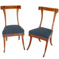 North European Klismos Chairs, 19th Century