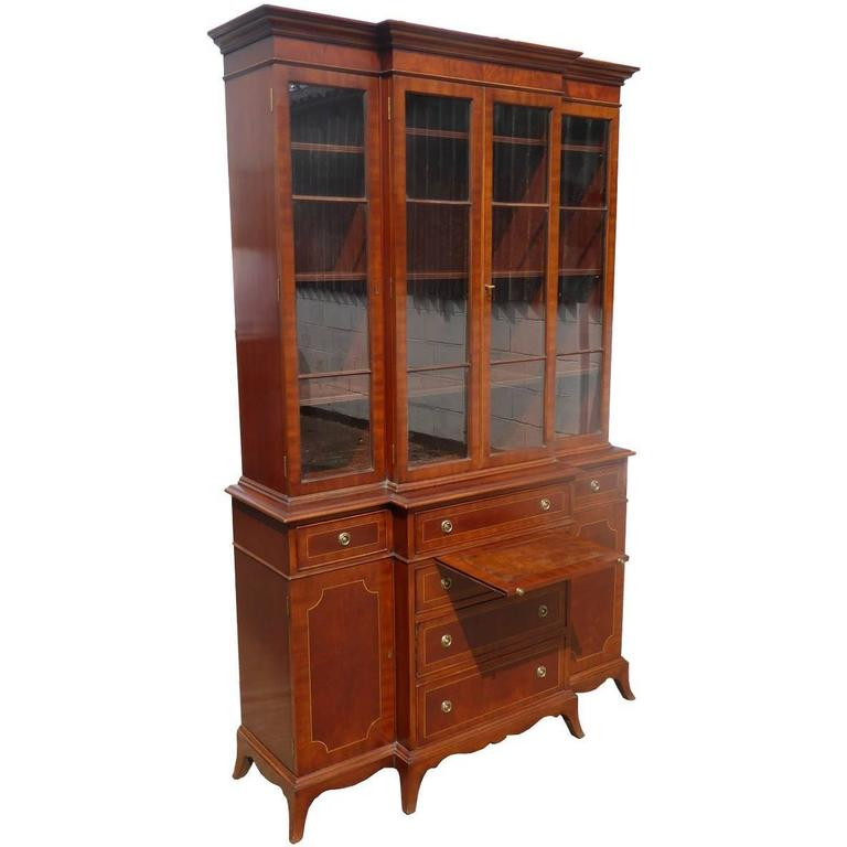 Four-Door Breakfront Bookcase Of Small Proportions For