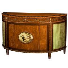 Satinwood Antique Demilune Commode