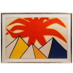 Large, Signed, Alexander Calder Lithograph