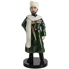 Vacheron Constantin Carved Jade Sculpture of a Cossack by Erwin Klein