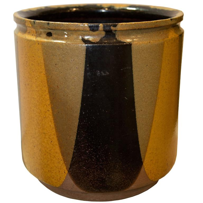 Mid-Century American Modern Flame Glaze Planter by Earth Gender