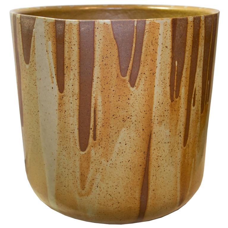 Mid Century American Modern Flame Glazed Ceramic Planter