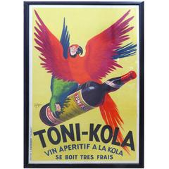 1935 French Art Deco Toni-Kola Poster