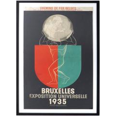 1935 Leo Marfurt Bruxelles Exposition Poster