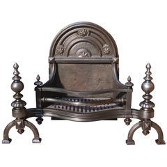 19th Century English Cast Iron Fire Grate