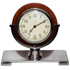 1930s Art Deco Machine Age English Clock by Smiths