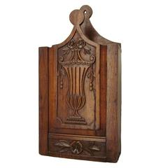 French Provencal Walnut Fariniere or Flour Box